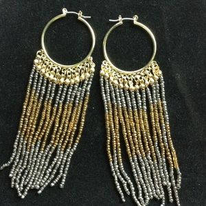 NEW Fringe Ombré Boho a Dangle Earrings