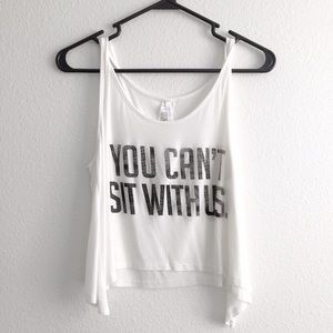 You Can't With Us Draped Crop Top