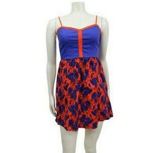 UrbanOutfitters Cope trim dress floral Sz S