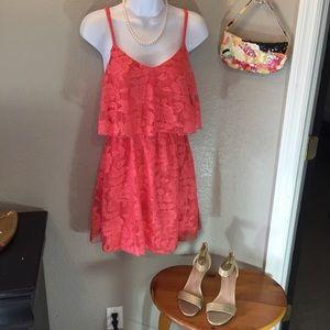 My Michelle Dresses & Skirts - My Michelle Lace Flounce Dress Size M 🛍