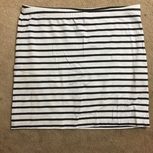 Black and white stripe skirt!