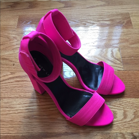 a4030d0b267 New Look ASOS Hot Pink Block Heel Strappy Sandals
