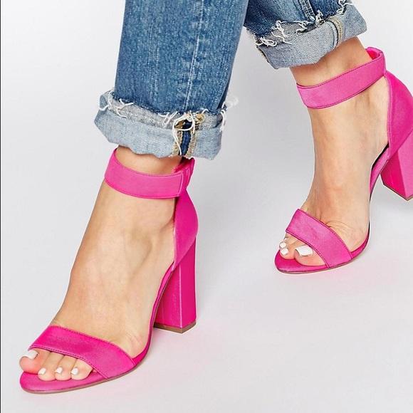 3fabffcc025 New Look ASOS Hot Pink Block Heel Strappy Sandals