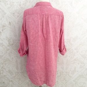 1329e3e5a7 Forcynthia Beachwear Tops - ❌SOLD❌ Marled red   white linen Forcynthia tunic
