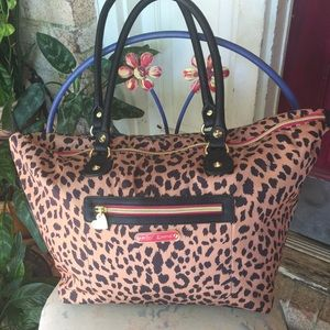 Betsey Johnson Handbags - Designer Animal Print Travel Satchel NWOT