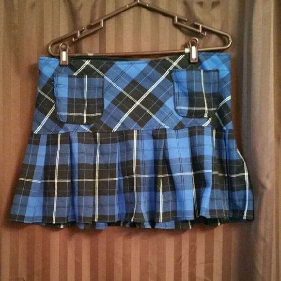 61 topic dresses skirts blue and black plaid