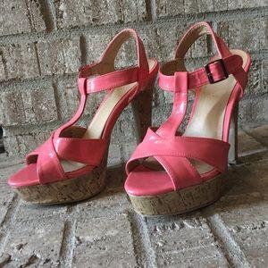 Madden Girl Shoes - Peach platform heels