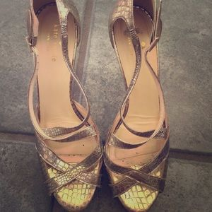 Kate Spade gold heels size 9