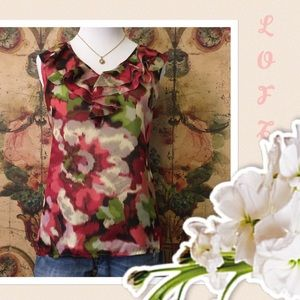 Sale Ann Taylor LOFT medium floral blouse