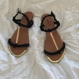 JustFab flat sandal, size 9