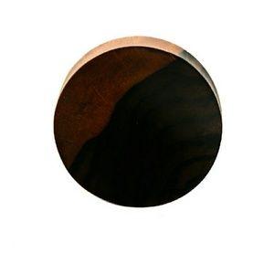 Jewelry - Double Flare Concave Ebony Wood Plug