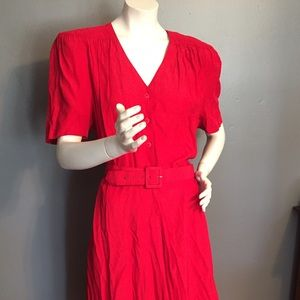 Vintage Carol Anderson red dress