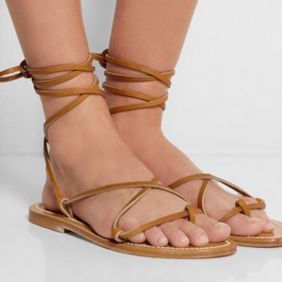 5bb9416487a4c k jacques Shoes - K. Jacques Bikini Wrap Gladiator Sandals 38