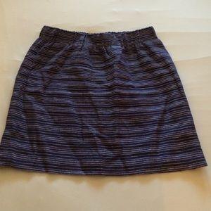 blue loft striped skirt on Poshmark