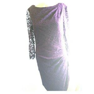 Taylor Dresses Dresses & Skirts - Beautiful Purple color lace knee length dress