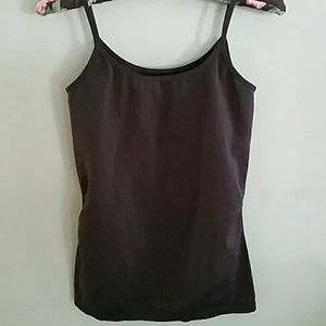 Tops - Brown stretch body slimming cami