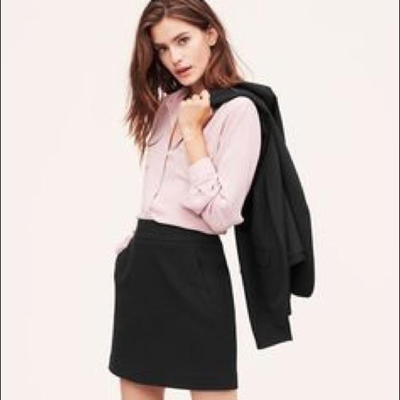 77% off loft dresses & skirts - ann taylor loft plus size black