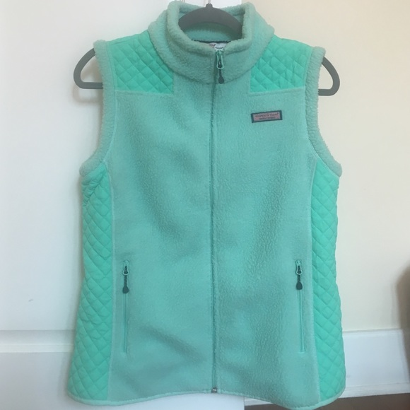 Vineyard Vines Jackets Amp Coats Mint Green Fleece Quilted