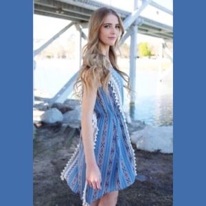 Relished Dresses & Skirts - 🔴🌺LOVELY BLUE AZTEC BOHO DRESS BY RELISHED🌺