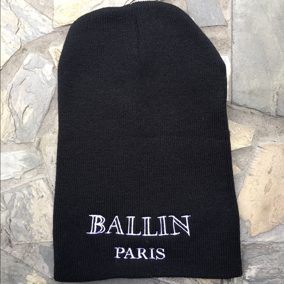 60953de1186 Balmain Accessories - BALLIN PARIS Beanie Black Skull Cap Hat