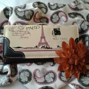 Handbags - Eiffel Tower Purse/Wallet (Black)