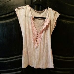 FrEE PEOPLE salebaby pink blouse