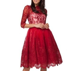 Chi Chi London red dress