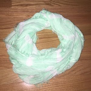 Mint green/white Infinity Scarf from Aeropostale