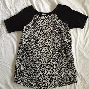 $5 Black and White Animal Print Zara Top