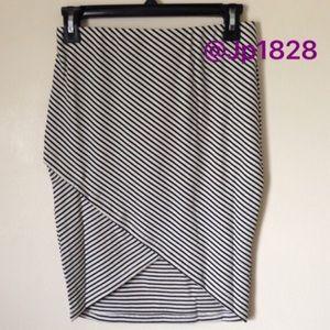 NWOT Lush Striped Mini Skirt