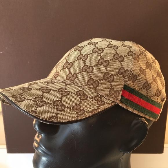 Gucci Unisex Brown GG Denim Baseball Hat Cap 328055 (Medium) discount bafc0  8fb17  GUCCI CAP 100% AUTHENTIC best authentic 13e95 4d4f6 ... aac4b8a5ad12