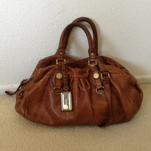 Brown Cognac Leather Marc Jacobs Handbag Purse