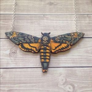 Abbie's Anchor Jewelry - Deaths Head Death Moth Necklace