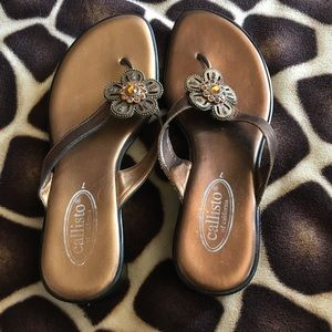 Callisto Shoes - Copper Callisto flower heels :)
