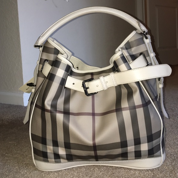 bae94922fbcd Burberry Handbags - Burberry Smoked Check Walden Medium Hobo