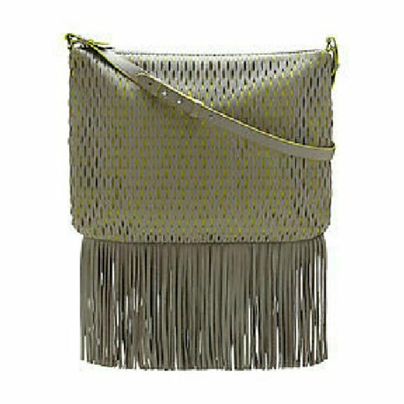 Perforated Fringe Bottom Cross Body Bag NWT MSRP $248 Vince Camuto MALIK