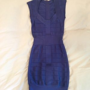 PURPLELY-BLUE FRENCH CONNECTION BANDAGE DRESS