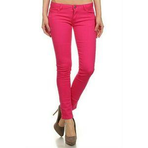 Denim - Fuschia Denim Jeans