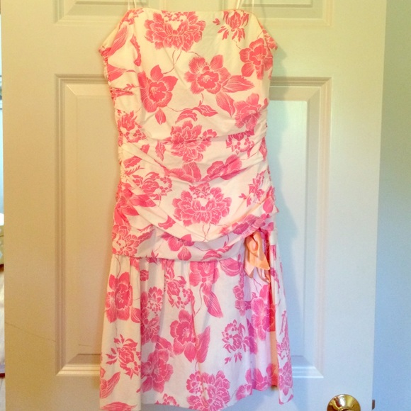 55% off ABS Allen Schwartz Dresses &amp Skirts - Pink and white ...