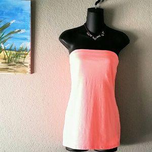 Neon Orange tube top. Boutique. 12/14. NWOT
