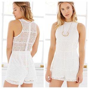 41dc74a7d8c Urban Outfitters Pants - Urban Outfitter BB Dakota White Cream Leola Romper
