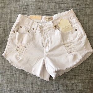 Altar'd State Pants - NWT White Distressed Jean Shorts
