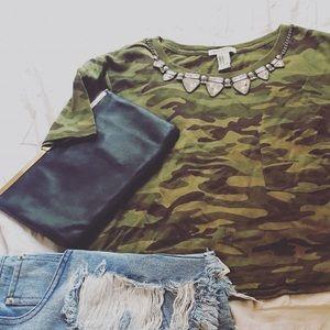 Army Green Camo Crop size Medium