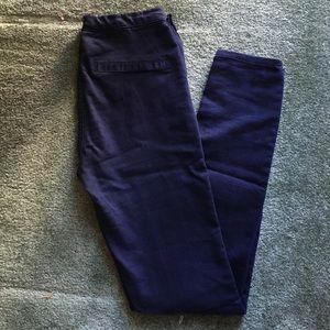 Zara navy skinny legging sz 26