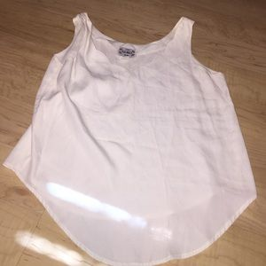White scallop tank top