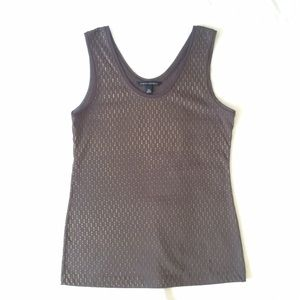Banana Republic Tops - BR Brown Tank Top with Gold Embellishment