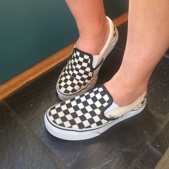 8a0caac3e2b669 van checkerboard slip ons   Come and stroll!