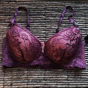 Rene Rofe Other - NWT - Rene Rofe Purple Lace Bra (36C)