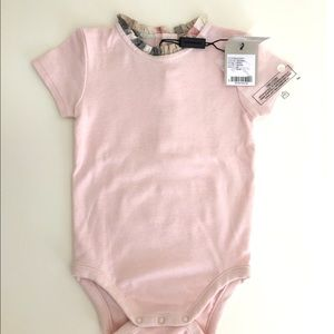 NWT Authentic Burberry Baby Coverall-ICE PINK