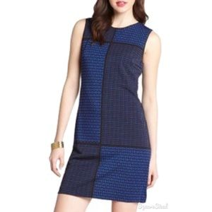 Stretch Jacquard Pattern Sleeveless Dress